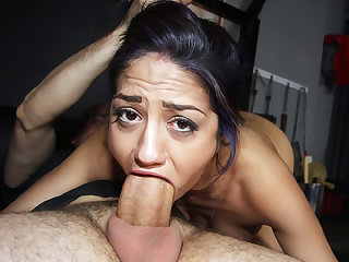 Hot curious chick Julia de Lucia gets fucked hard by her step dad